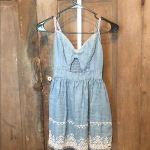 Hollister adjustable strap dress chambray
